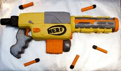 Nerf Gun Cake i so want to have this for my sons birthday party