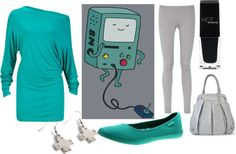 """""""Beemo (Adventure Time)"""" by geekstylist on Polyvore"""