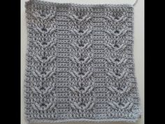 Crochet Cables  Square 1: Bars & Twists part 1; rows 1-4 - YouTube
