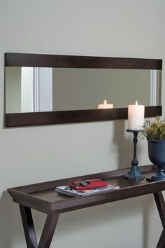 Great mirror for a foyer  or use those cheap ones from meijers