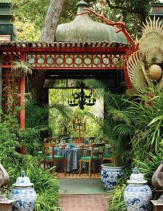 The gazebo at Tony Duquette's Dawnridge Estate