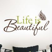 Found it at Wayfair - Art Kit Life is Beautiful Phrases Wall Decal