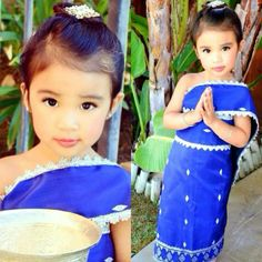 Laos girl in traditional dress