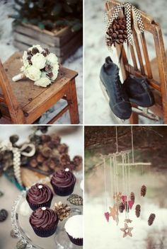 very rustic, but cute  winter wedding :)