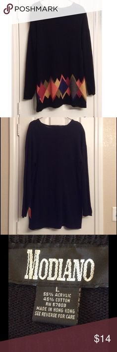 Pretty oversized sweater or dress Vintage 80s , long and comfy, 33 inches long from shoulder, 46 inches wide flat Sweaters Crew & Scoop Necks