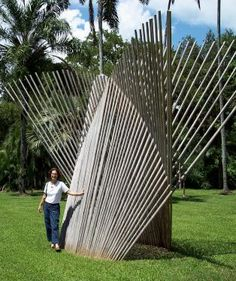 Bamboo sculpture at Fairchild Tropical Garden