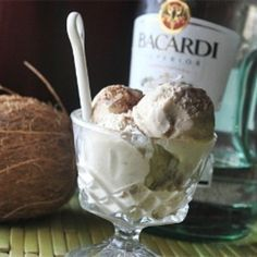 Coquito Ice Cream - A version from the yummy Puertorican drink.