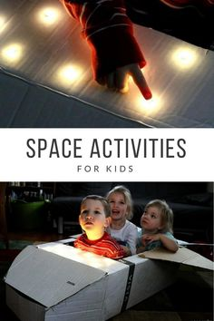 There are so many fun space activities for kids! This DIY space shuttle is my personal favorite. The post is full of links to more activities. Space Activities For Kids, Space Crafts For Kids, Science Activities, Toddler Activities, Space Kids, Science Week, Science Space, Space Space, Toddler Fun