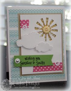 sunshine--too cute....love the negative space and washi
