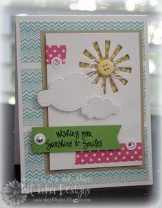 sunshine--too cute....love the negative space and washi