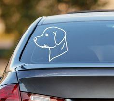Labrador Decal Show off your love for your family dog with this Labrador Decal! ______________________________________________  *** PRODUCT INFORMATION ***  - SIZE OPTIONS:  3 inches = $3 4 inches = $4 5 inches = $5 6 inches = $6  - Please make sure to measure the area you want the decal to be placed on. If you need a different size, then the options shown, please contact me with your requests before you purchase.  - MATERIAL: Your choice of either an outdoor or indoor vinyl decal:  OUTDOOR…