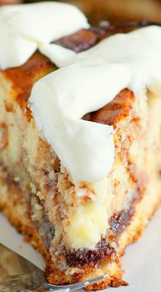 Cinnamon Roll Cheesecake == WOW, SOUNDS DELICIOUS. TAKES A LITTLE MORE TIME THAN I WOULD USUALLY SPEND ON DESSERTS BUT WILL MAKE AN EXCEPTION & MAKE THIS. :) ===