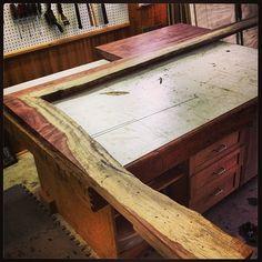 Bubinga live edge chair rail (: #wood #woodworking #finewoodworking #bubinga #chairrail #liveedge #craftsman #cdnww #exoticwood #woodshop #handmade