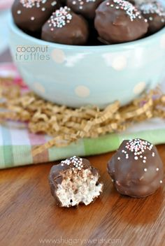 Sweet Coconut Truffles are perfect for Easter or anytime and so easy - only 4 ingredients!