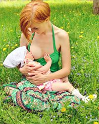 """""""I don't think most people realize, but when they say things like, 'There's a time and a place for breastfeeding,' they are unfairly placing severe restrictions on a nursing mother and her baby (and whatever other children or family she has)."""" - Christine Ingram, on breastfeeding in public  [ read article ]"""