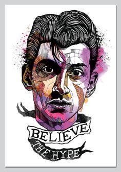 Alex Turner Illustration by Phil Baker, via Behance
