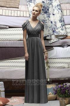 A-Line Sheath/Column V-neck Chiffon Bridesmaids Dresses