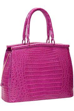 Michael Kors Tote Outlet Large Stud Shoulder Brown On Sale Beautiful Handbags, Beautiful Bags, Luxury Handbags, Purses And Handbags, Crocodile, Bags 2014, Mk Bags, Handbag Accessories, Luggage Bags