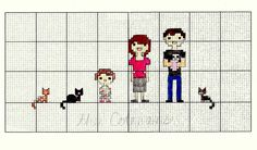 for the birth of my friend missy 's second baby, abigail, i made the family a cross-stitch portrait. this customizable cross-stitch pr...