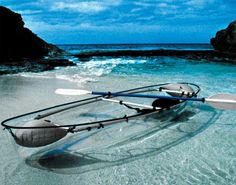 Transparent kayak.... That would be awesome and scary at the same time