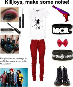 """KILLJOYS MAKE SOME NOISE!"" by panicking-killjoy-forever ❤ liked on Polyvore"