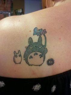 Totoro tattoo.  ^^ Not mine.