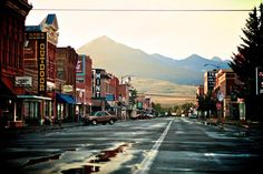 Livingston Montana - The town that helped inspire our fictional town of Marietta where the books of the Copper Mountain Series are based. Livingston Montana, Flathead Lake, Small Town America, Montana Homes, Big Sky Country, The Ranch, Travel Goals, Small Towns, Wyoming