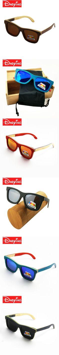 2017 polarized WOODEN Sunglasses Men bamboo Sun glasses Women Brand Designer Original Wood Glasses Oculos LUB141
