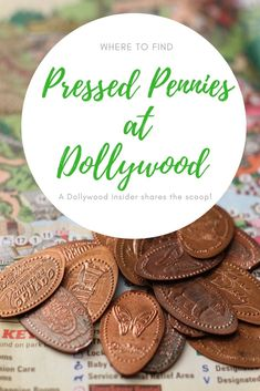 A Dollywood Insider shares where to find all the Pressed Penny machines at the Dollywood theme park in Pigeon Forge. Visiting in then this is a great for an inexpensive Road Trip With Kids, Family Road Trips, Family Travel, Travel Usa, Travel Tips, Travel Stuff, Smashed Pennies, Souvenir Display, Pressed Pennies