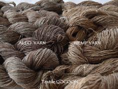 Allo Yarn and Hemp Yarn. Textile Cocoon. (Harue Nishikawa) - Too bad this isn't in English lol