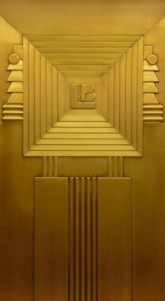 Art Deco Elevator at the Lefcourt Clothing Center, 275 Avenue, NYC; Arte Art Deco, Motif Art Deco, Art Deco Pattern, Art Deco Era, Art Deco Design, Print Patterns, Art Deco Stil, Art Deco Home, Architecture Details