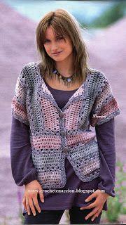 Crochet En Acción: Chaqueta en suaves tonos
