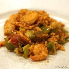 Transport yourself to Louisiana for some spicy yummy goodness with this three meat Creole jambalaya. Great taste in a weeknight cook.