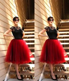 Should you have a passion for shoes a person will love this info! Red Fashion, Skirt Fashion, Tulle Skirt Dress, Tulle Skirts, Tutu Women, Casual Couture, Tutu Outfits, Red Skirts, Urban Outfits
