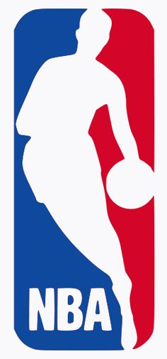 The famous logo of the National Basketball Association