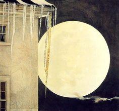 Moon Madness, 1982 by Andrew Wyeth.) (Maybe Jamie Wyeth? Andrew Wyeth Paintings, Andrew Wyeth Art, Jamie Wyeth, Nocturne, George W Bush, Nc Wyeth, Beaux Arts Paris, Digital Museum, Le Far West