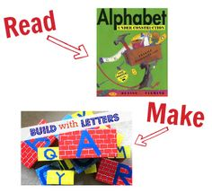 Preschool Story Book Craft - alphabet