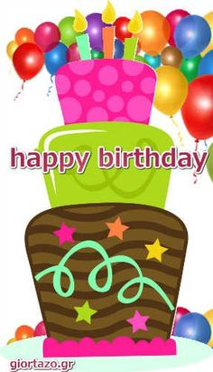 Best Happy Birthday Wishes giortazo Make someone's birthday more special Pics And Gifs Animated Happy Birthday Wishes, Happy Birthday Greetings Friends, Happy Birthday Fun, Happy Birthday Messages, Happy Birthday Images, Birthday Stuff, Cute Good Morning Quotes, Useful Life Hacks, Creations