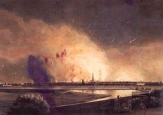 2 September - a British squadron of 25 battleships-of-the-line under Admiral Lord Gambier began the three days bombardment of Copenhagen to force the neutral Danes to surrender their still considerable navy before  Napoleon possibly invaded.