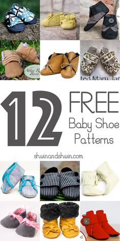 Sewing Ideas For Baby A round up of 12 FREE baby shoe patterns. - A round up of 12 FREE baby shoe patterns. Baby Sewing Projects, Sewing For Kids, Free Sewing, Sewing Crafts, Sewing Ideas, Baby Sewing Tutorials, Couture Bb, Free Baby Patterns, Free Pattern