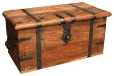 Vintage Wooden Trunk II eclectic-coffee-tables