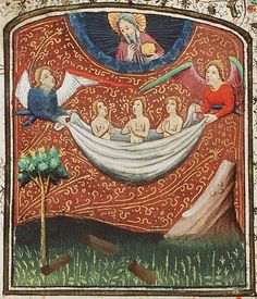 Angels bring Souls to Heaven. Netherlands c.1440. RMMW 10 F 11 by tony harrison, via Flickr