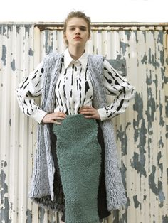 Katharina Diezl // Graduation Collection (knitwear) Photo by lovely Elfie Semotan Bachelor Program, Knitwear, Duster Coat, Technology, Spectrum, Graduation, Jackets, Fat, Fashion Design