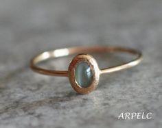Alexandrite 14k gold  ring, June birthstone, handmade engagement ring, alexandrite promise ring, stack ring, solid 14k gold