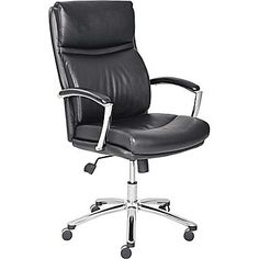 Lane Madison Contemporary Manager Chair, Black | Staples