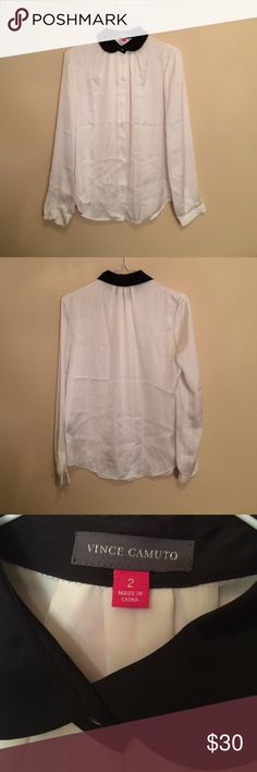 Spotted while shopping on Poshmark: Vince Camuto Peter Pan Collared Blouse! #poshmark #fashion #shopping #style #Vince Camuto #Tops