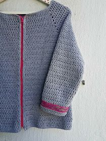 La ventana azul: 213.-Chaqueta a crochet Crochet Cardigan, Knit Crochet, Crochet Sweaters, Loom Knitting Patterns, Crochet Clothes, Crochet Flowers, Doll Clothes, Free Pattern, Men Sweater