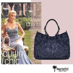 Chantal Marie Navy Floral leather shopper is the perfect bag for Mum for Mother's day. Make her feel super special, just like royality...coz she so deserves it.  www.marlafiji.com FREE SHIPPING WITHIN AUSTRALIA ‪#‎marlafiji‬ ‪#‎chantalmarie‬ ‪#‎italianleatherbag‬ ‪#‎mothersday‬