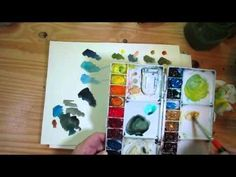 A new little video on mixing and using GREEN! - Artists' Journal Workshop--the book and beyond