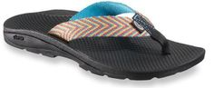 Chaco Flip Vibe Flip-Flops have good tread and fun colors.